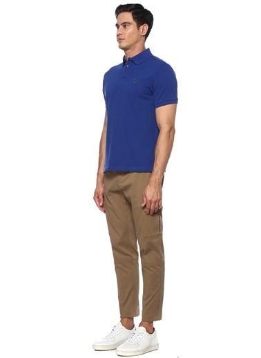 Etro Etro  Polo Yaka Logo Nakışlı T-shirt 101552765 Mavi